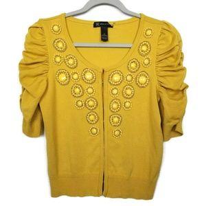 INC international concepts | mustard cardigan